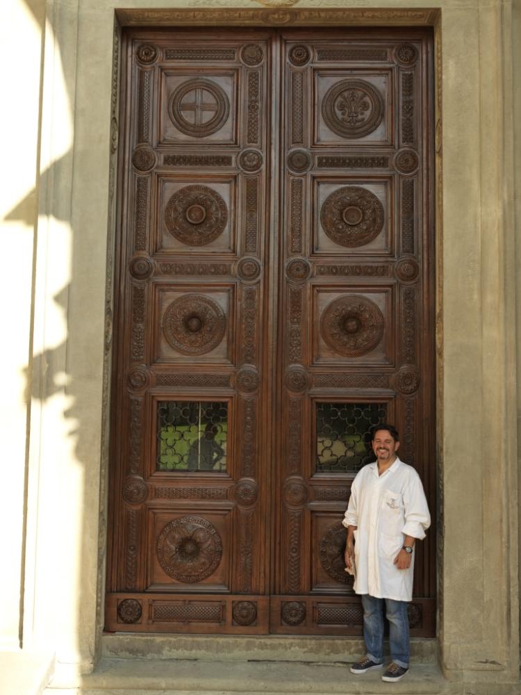 Porta della Cappella Pazzi dopo restauro